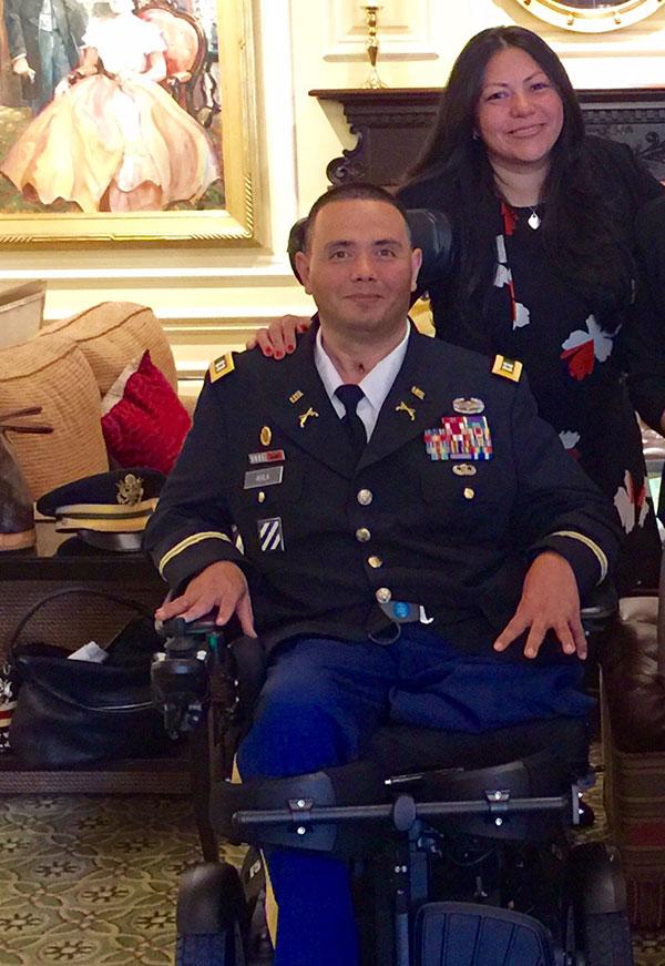2017 honoree CPT Luis Avlia & wife Claudia