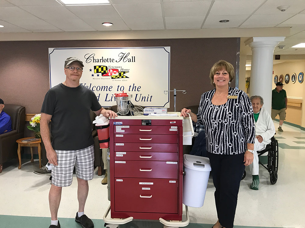 12 Crash Carts Donated to Charlotte Hall Veterans Home